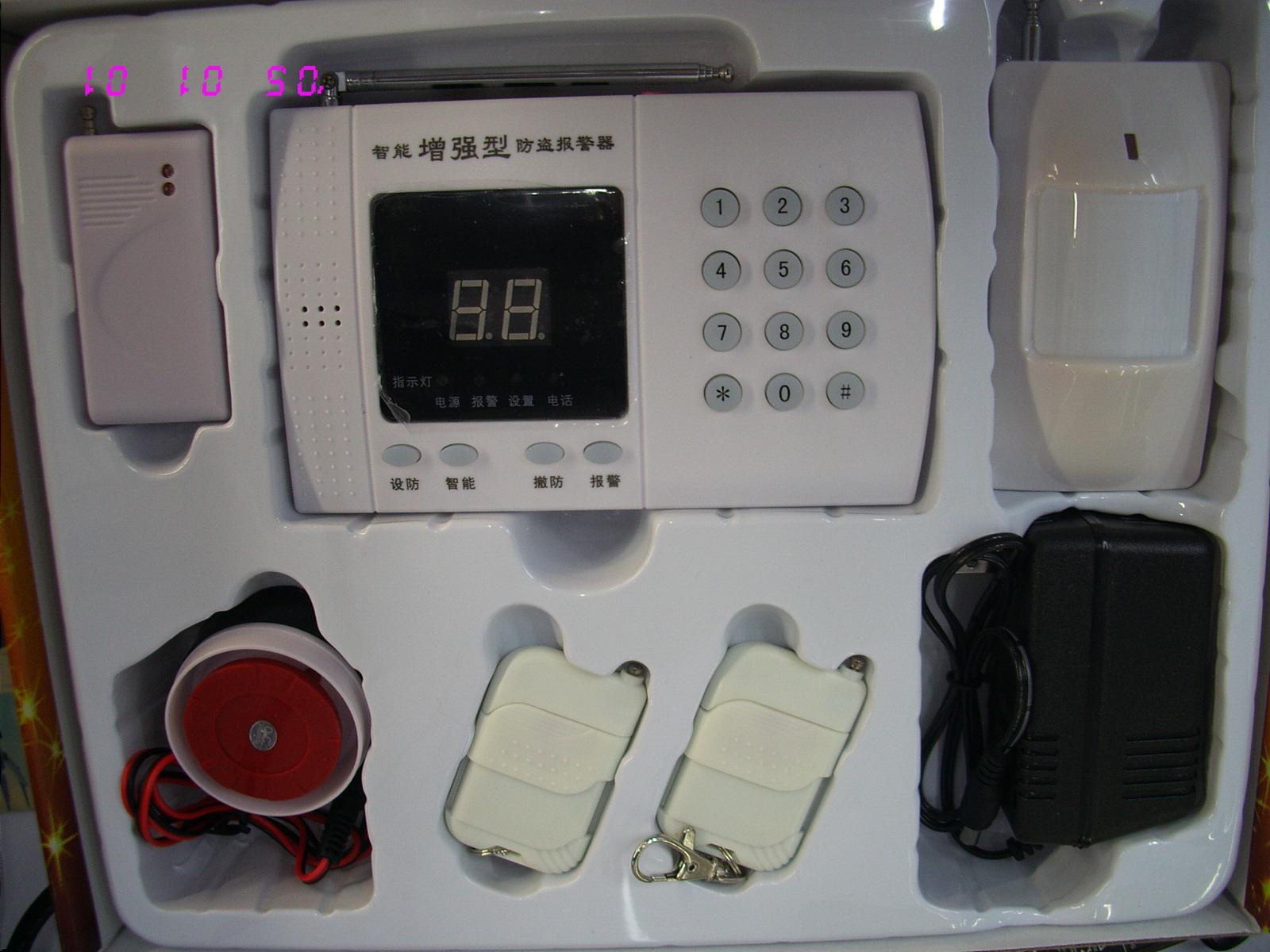 电话线连接智能语音家用防盗报警器系统